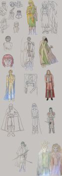 Silmarillion sketches by romenriel