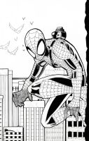 Spider-Man Rehashing Inked by BlackArachnid