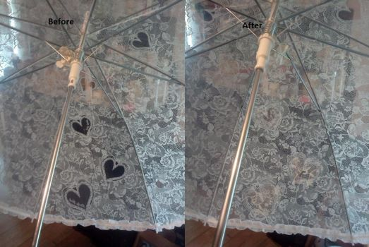 Before-after - an umbrella by TranquilCat