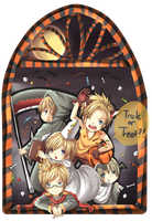 APH : Nordics Halloween by neokirii