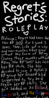 Regret Stories: Roleplay by CaptainJellyroll