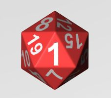 3d D20 - 1 by Boulayo
