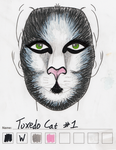 Tuxedo Cat makeup sketch #1 by toberkitty