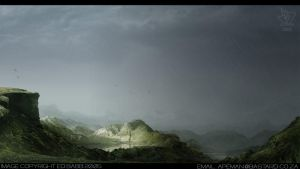 Matte Painting: Jungle Fever by corrodedsoul