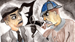 [Painting] Cole Phelps vs Sherlock Holmes by Combusken11