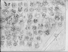 100 heads and poses P3 by Redfoxbennaton