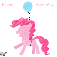 Filly Pinkie Pie flying by aruigus808