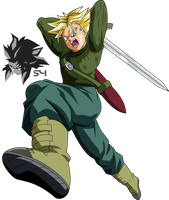 Super Saiyan Future Trunks Dragon Ball Super by MAD-54