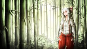Mokou and the bamboo forest of the lost by Rinnemi