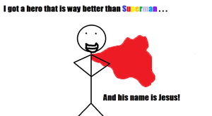Super Jesus! :D by theedgerocks13