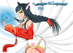 Ahri - The Nine-Tailed Fox by Jeinaz