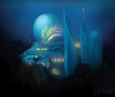 Speedpaint: Andreelin Port Colony by Jerepasaurus