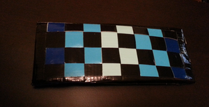 Blue Gradient Checkered Wallet by DuctileCreations
