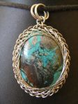 fractal wrapped turquoise by BacktoEarthCreations