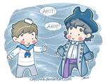 BBC Sherlock - Pirate John and Sherlock by caycowa