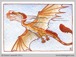 ACEO: Golden Wyr by emla