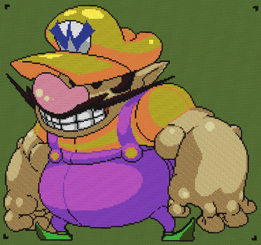 Minecraft - Wario by luk01