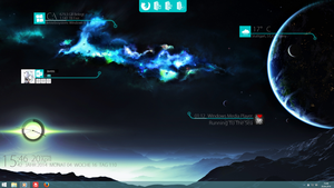 Rainmeter Fremde Welt DE/EN #Animated by Zer031
