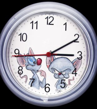 Pinky and The Brain - clock by yawn2oo