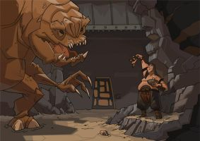 Rancor feeding time by PatrickSchoenmaker