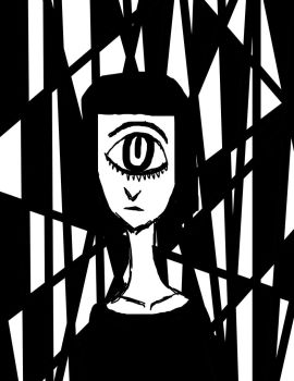 cyclops without color by mitchycookie