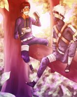 Obito and Kakashi by Skypeach