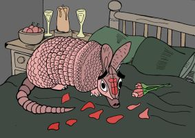 Amorous Armadillo by wookieebasher