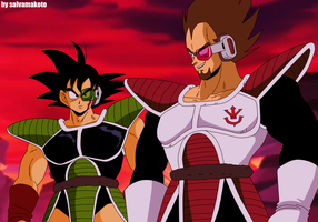 young bardock and king vegeta by salvamakoto