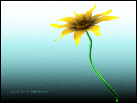 a digital flower by cl0ckw0rked