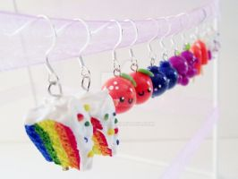 Colorful Earrings by kikums