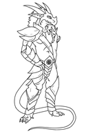 Lineart Commission: Xanfire by RedtheGamr