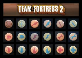 Team Fortress 2 buttons by invader-gir