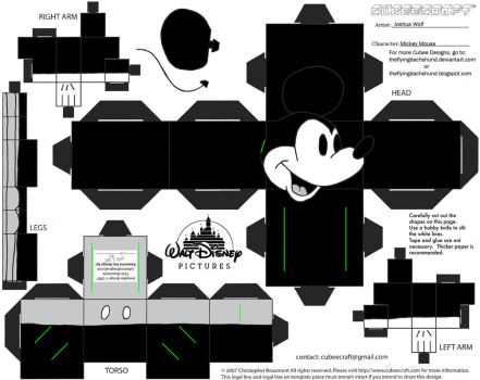 Dis1: Mickey Mouse Cubee by TheFlyingDachshund
