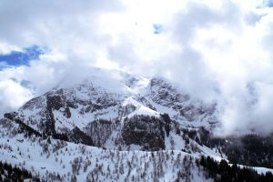 Snowy Mountain in Clouds by gonzo2305