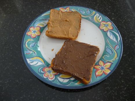 Peanut butter and choc toast by R-J-S-KING