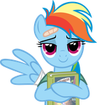 Rainbow Dash and her book by CrusierPL