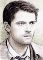 Misha Collins mini-portrait by whu-wei