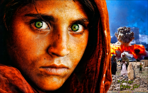 AFGHAN GIRL WITH GREEN EYES by CSuk-1T