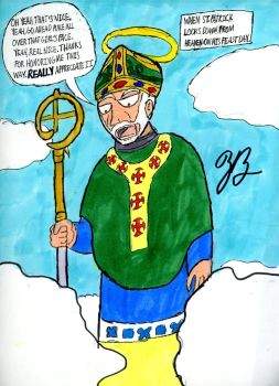 St. Patrick is not pleased by TheZackBurg