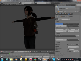 Walking Arrownd Game Character Almost Ready by 3DShe