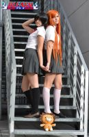 Rukia and Orihime cosplay BLEACH by amy-611