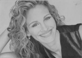 Julia Roberts Drawing by Jeroen88