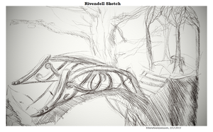 Rivendell Sketch by SarahMinishCap