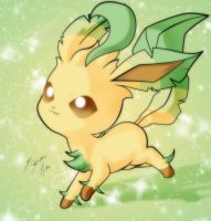 Eevee - Leafeon by Shinta-Girl