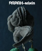 WIP Reptilian monster back, 50mm by Papah-minis