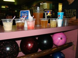 Drinks and Bowling by stephuhnoids