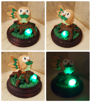 Rowlet Light Up Sculpture by Kyreon
