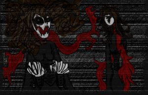 Slender Woman Dressed In Red by InvisibleCorpseGirl