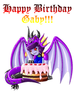 .:Pixel Birthday Dragoness:. by BlackHecate