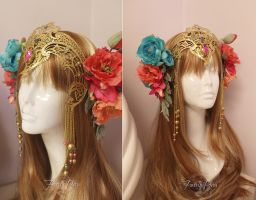 Faerie Queen Headdress by Lillyxandra
